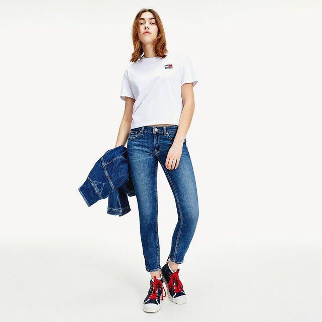 Κοντομάνικη μπλούζα με κεντημένο λογότυπο