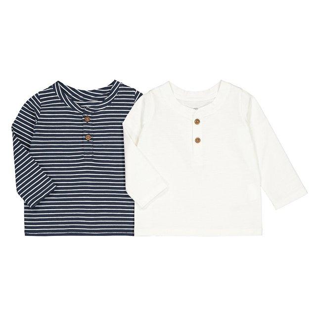 Σετ 2 μακρυμάνικες μπλούζες, 1 μηνός - 4 ετών