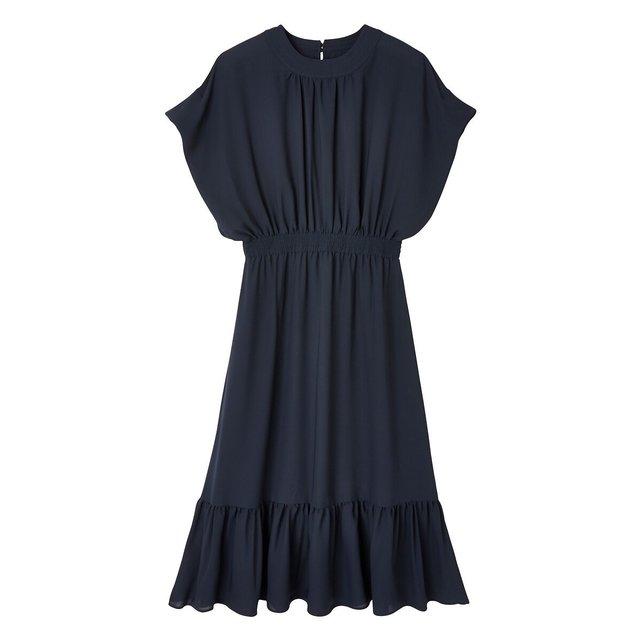 Μακρύ κοντομάνικο φόρεμα