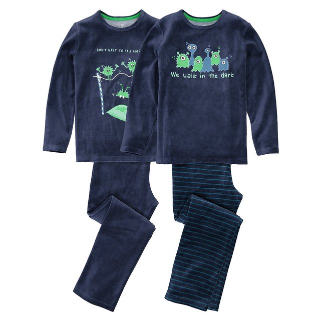 Σετ 2 βελουτέ πιτζάμες, 3-12 ετών