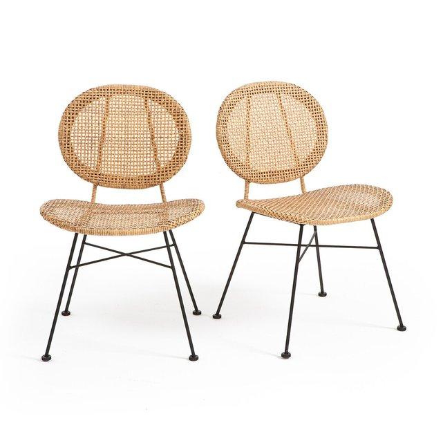 Σετ 2 καρέκλες από πλεγμένη ρητίνη, Rubis