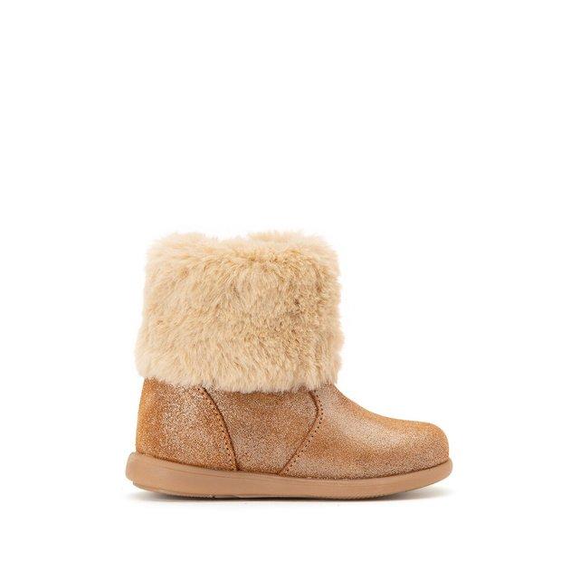 Δερμάτινες μπότες με γούνινη επένδυση, 19 έως 25