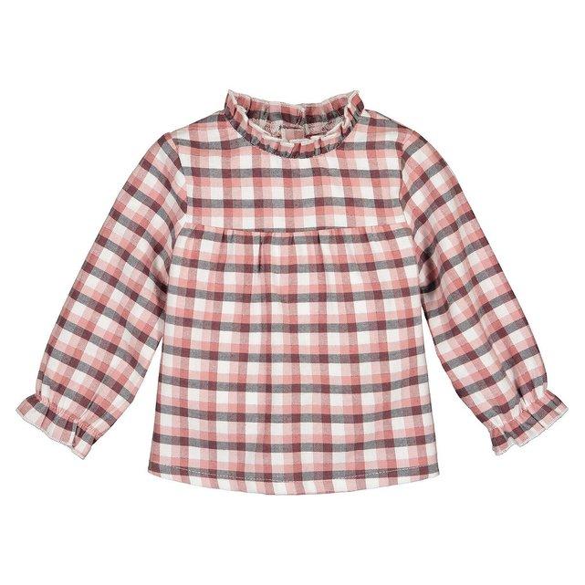 Μακρυμάνικη καρό μπλούζα, 3 μηνών - 4 ετών