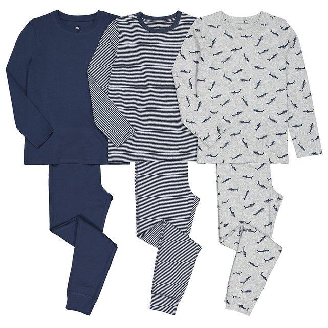 Σετ 3 βαμβακερές πιτζάμες, 3-12 ετών