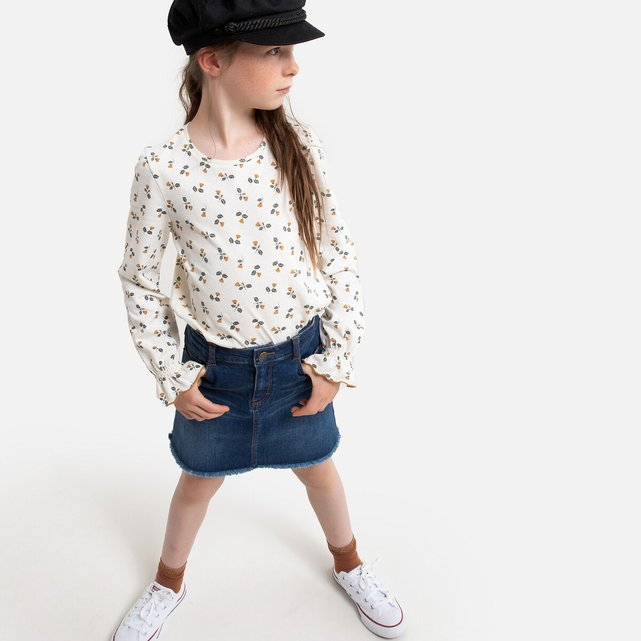 Τζιν φούστα σε ίσια γραμμή, 3-14 ετών