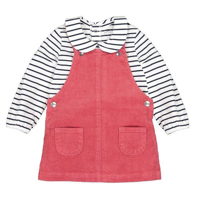 Σύνολο μπλούζα και φόρεμα-σαλοπέτα, 3 μηνών-4 ετών