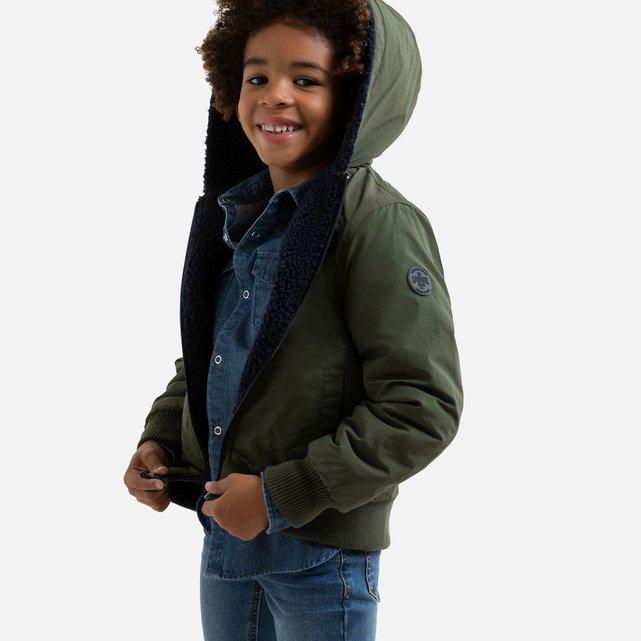 Κοντό μπουφάν διπλής όψης με κουκούλα, 3-12 ετών