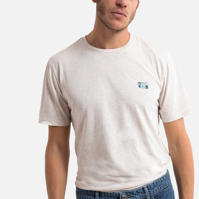 Κοντομάνικη μπλούζα με στάμπα στο στήθος