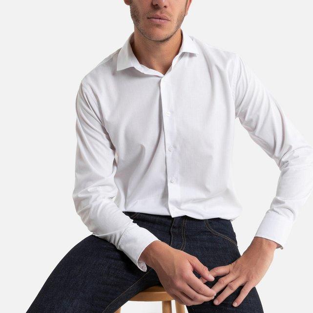Μακρυμάνικο πουκάμισο με λοξό γιακά
