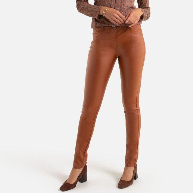 Ίσιο παντελόνι με ελαφρώς γυαλιστερή όψη