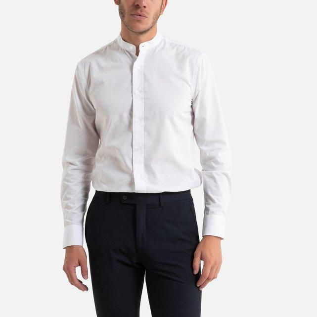 Μακρυμάνικο slim πουκάμισο με μάο γιακά