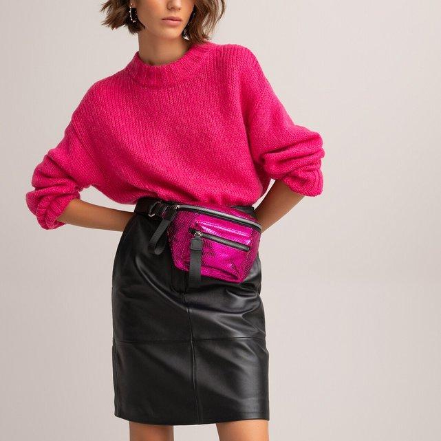 Τσάντα μέσης με όψη δέρμα φιδιού