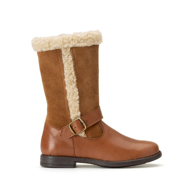 Δερμάτινες μπότες με γούνινη επένδυση, 26-37