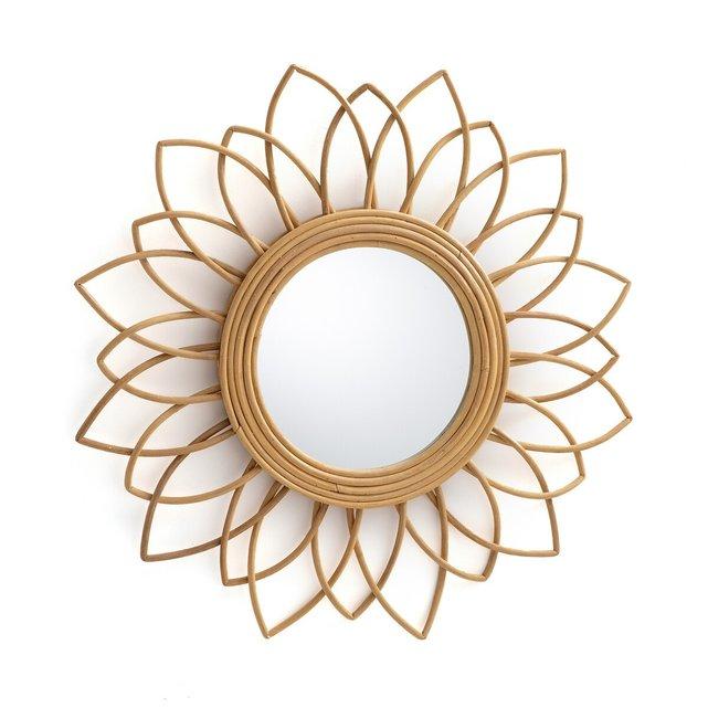 Καθρέφτης από ρατάν σε σχήμα λουλουδιού Δ65 εκ., Nogu