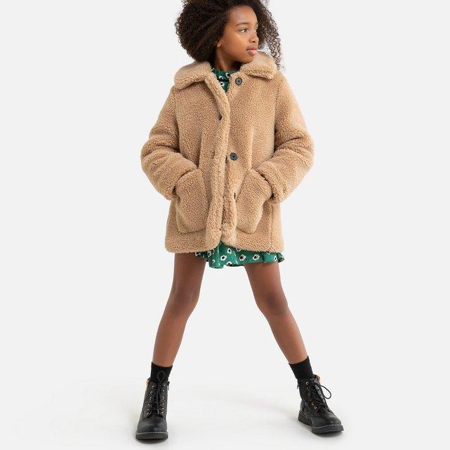Παλτό από συνθετική γούνα, 3-12 ετών
