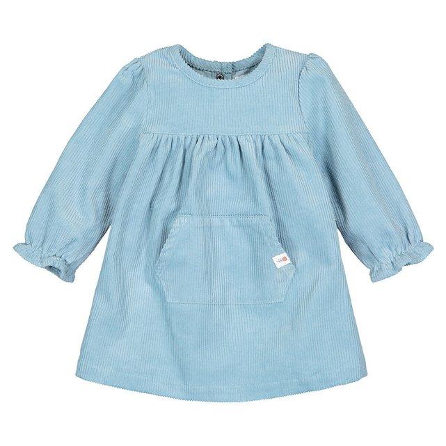 Μακρυμάνικο βελούδινο φόρεμα, 3 μηνών - 4 ετών