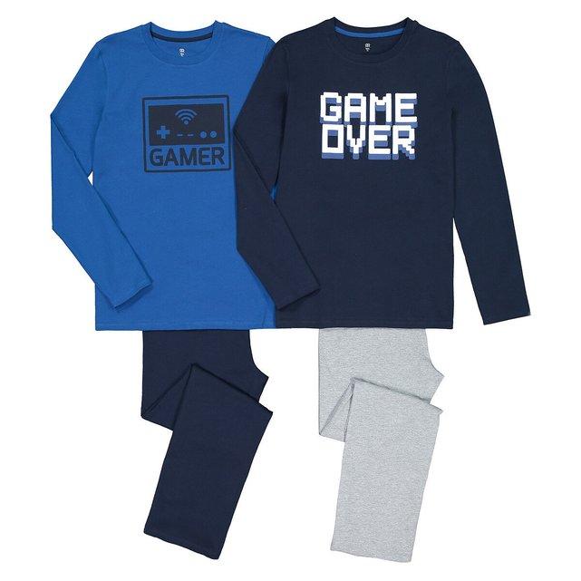 Σετ 2 πιτζάμες από οργανικό βαμβάκι, 10-18 ετών