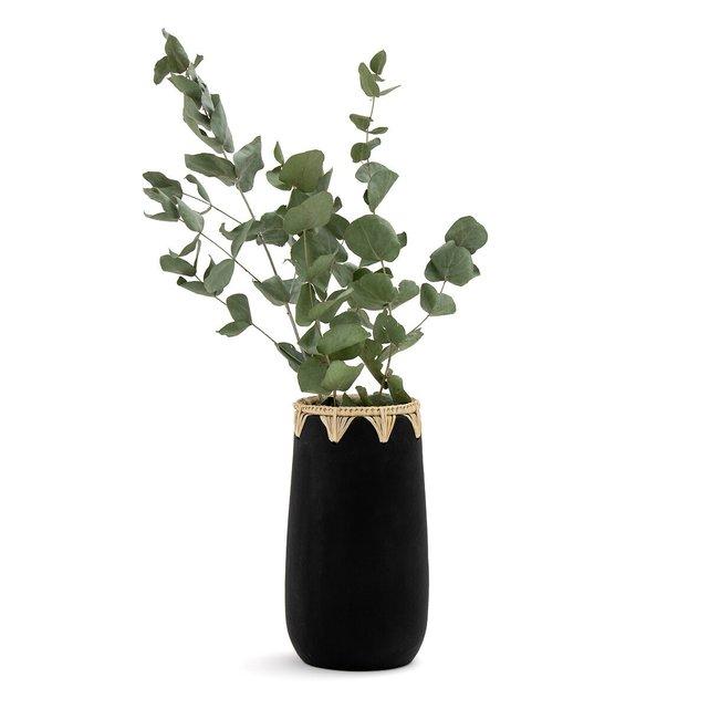 Διακοσμητικό βάζο από κεραμικό και σιζάλ, Kuro