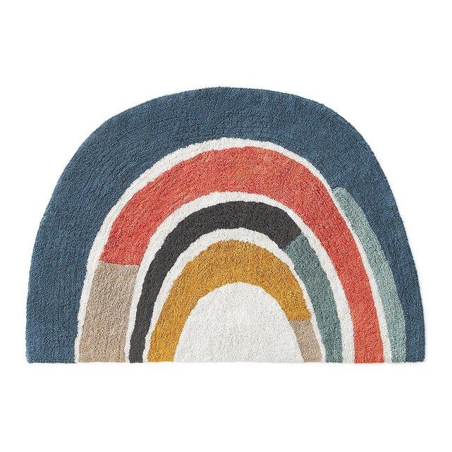 Βαμβακερό πλενόμενο χαλί με σχέδιο ουράνιο τόξο, Niji