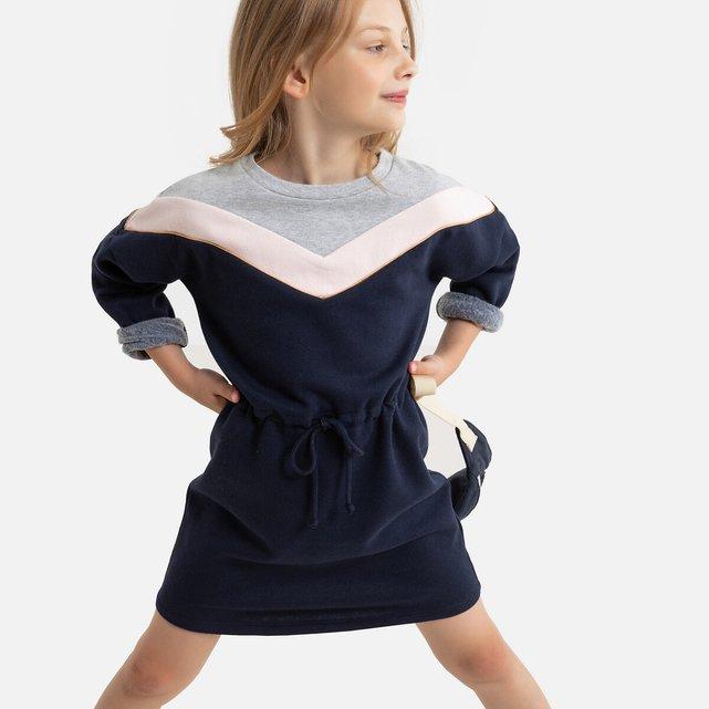 Μακρυμάνικο φόρεμα από φανέλα, 3 - 12 ετών