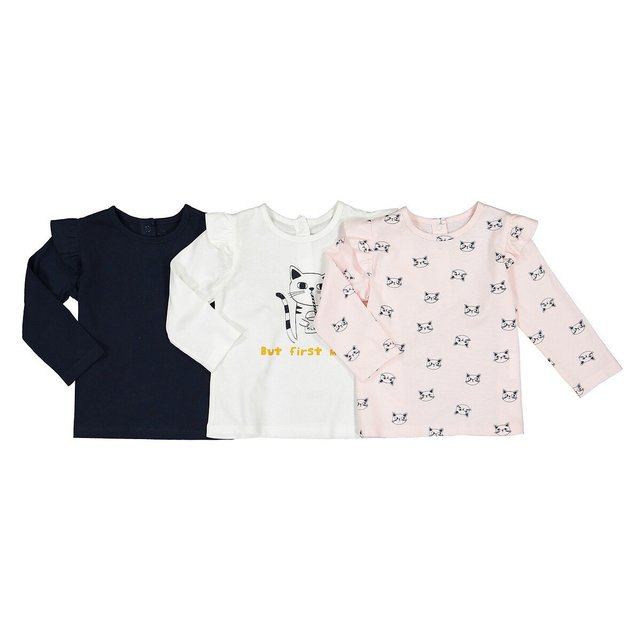Σετ 3 μακρυμάνικες μπλούζες, 3 μηνών - 4 ετών