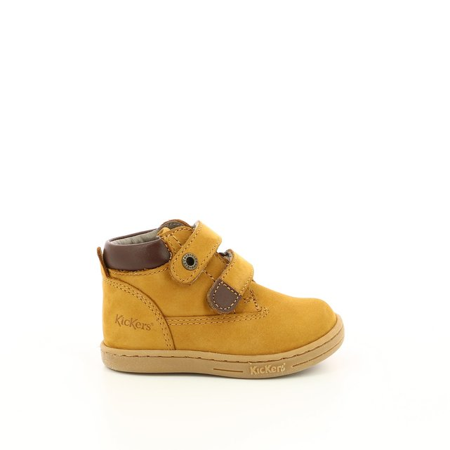 Kids Tackeasy Suede Touch 'n' Close Ankle Boots