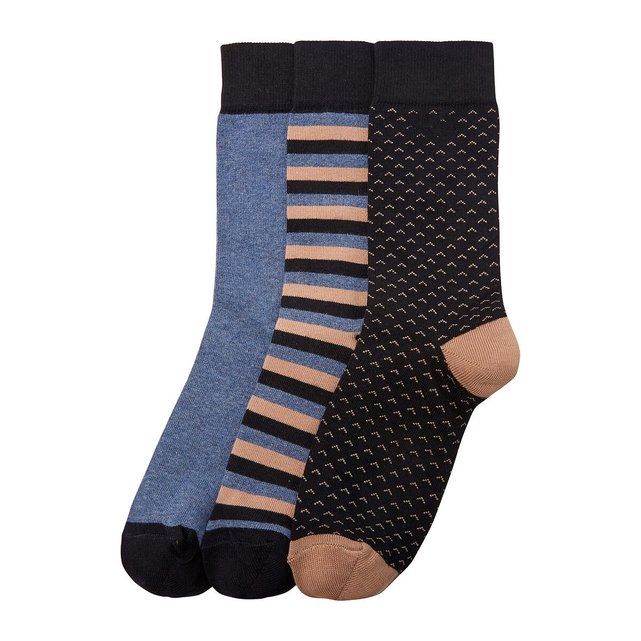 Pack of 3 Pairs of Socks in Cotton Mix