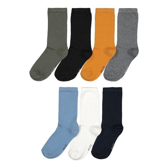 Σετ 7 ζευγάρια μονόχρωμες κάλτσες, 23|26 - 39|42