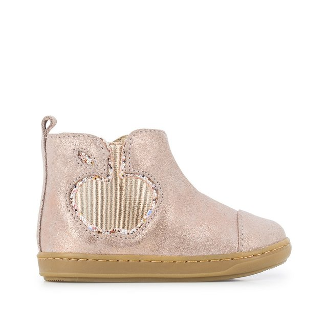 Kids Bouba New Apple Ankle Boots in Suede