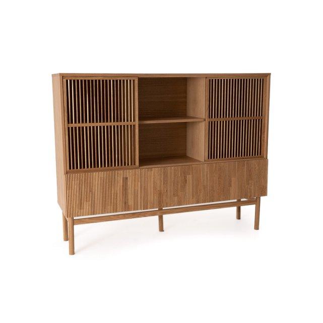 Σκρίνιο-βιβλιοθήκη με καπλαμά ξύλου δρυ, Pilpao