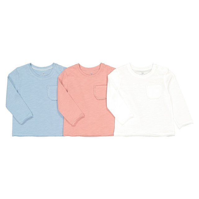 Σετ 3 μακρυμάνικες μπλούζες από οργανικό βαμβάκι, 3 μηνών - 4 ετών