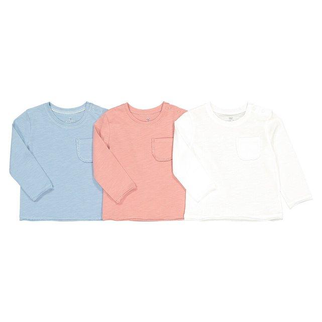 Σετ 3 μακρυμάνικες μπλούζες από βιολογικό βαμβάκι, 3 μηνών - 4 ετών