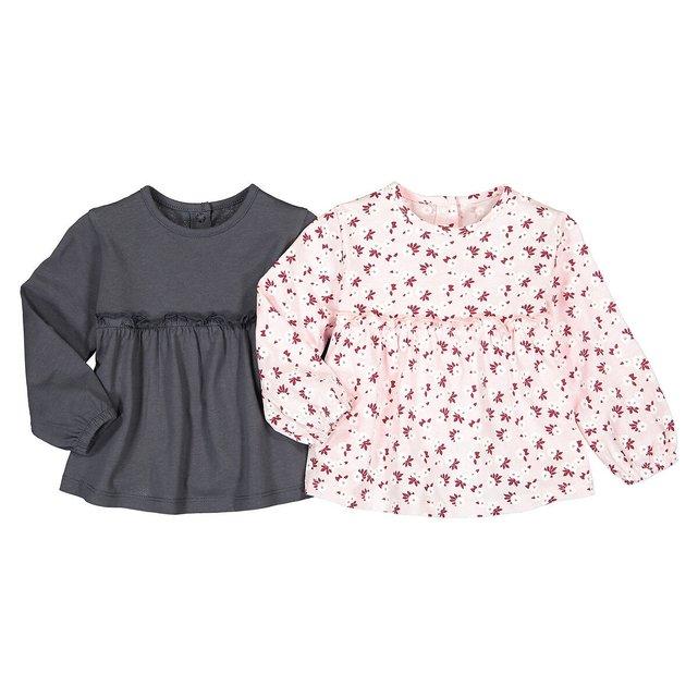 Σετ 2 μακρυμάνικες μπλούζες από βιολογικό βαμβάκι, 3 μηνών - 4 ετών