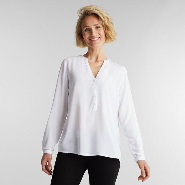 Μακρυμάνικη μπλούζα με V λαιμόκοψη