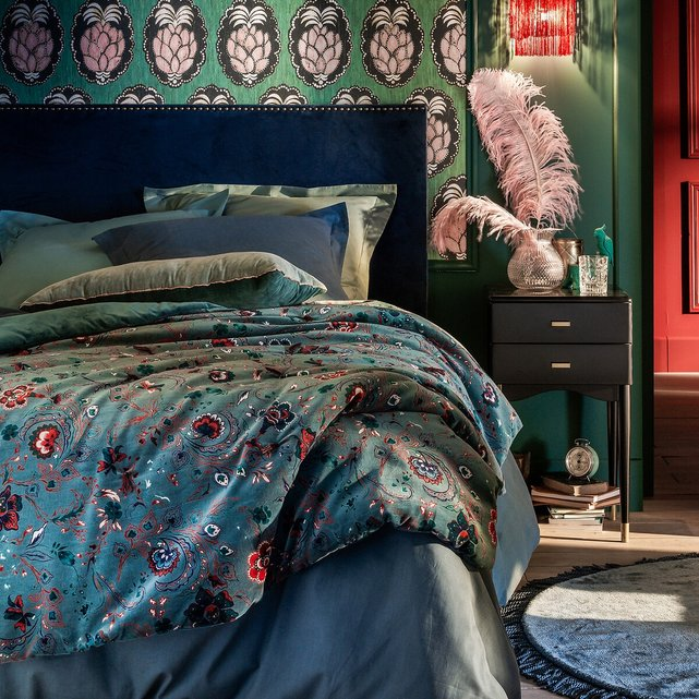 Εμπριμέ κάλυμμα κρεβατιού από βελούδο, Paisley
