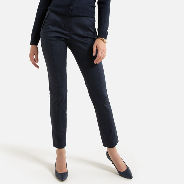 Ίσιο παντελόνι από άνετο στρετς ύφασμα