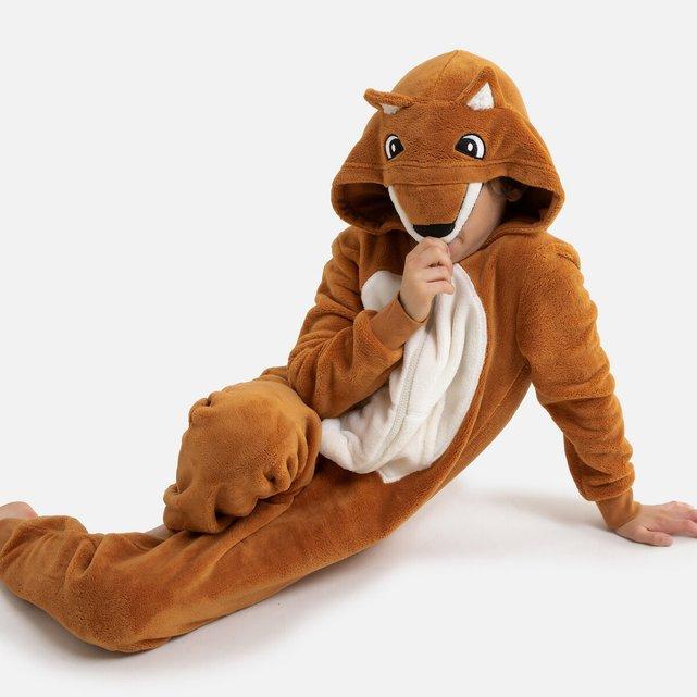 Ολόσωμη φόρμα με κουκούλα σε μορφή αλεπούς, 3-14 ετών