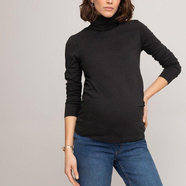 Μακρυμάνικη μπλούζα εγκυμοσύνης με λαιμό ζιβάγκο