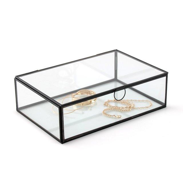 Κουτί από γυαλί και μέταλλο σε μπρονζέ ή μαύρο χρώμα, Uyova