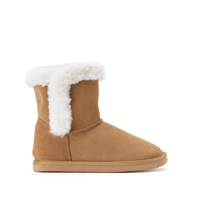 Δερμάτινες μπότες με γούνινη επένδυση, 26-39