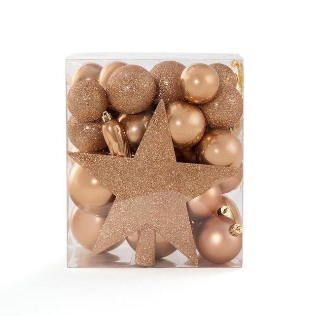 Κουτί με 33 χριστουγεννιάτικα καμηλό στολίδια, Caspar