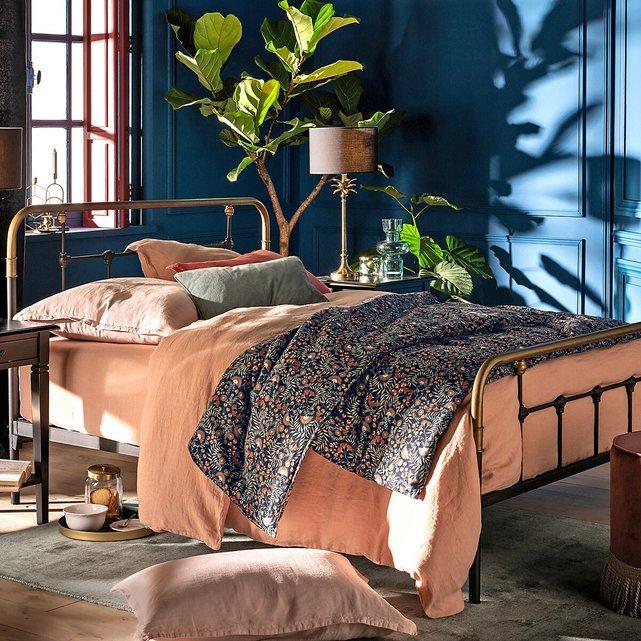 Εμπριμέ κάλυμμα κρεβατιού από προπλυμένο βαμβάκι, Majari
