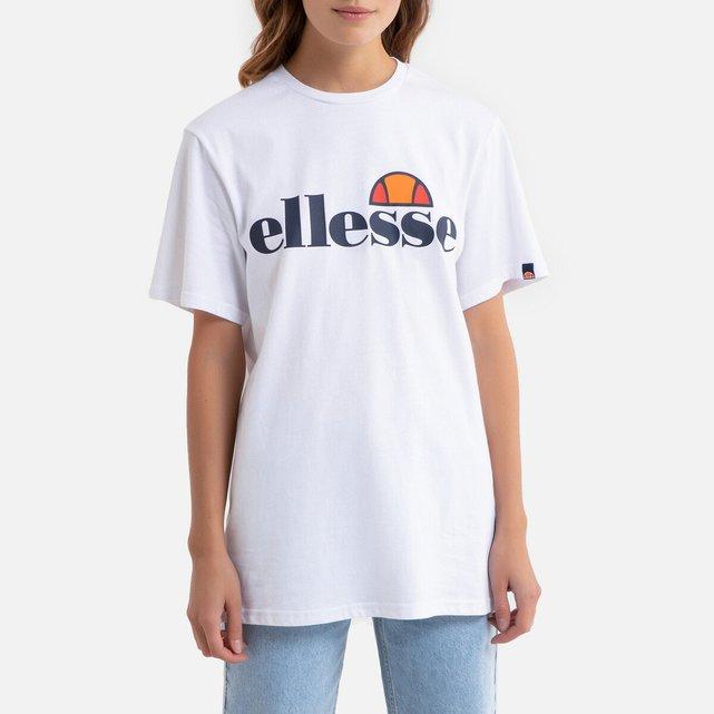 Εμπριμέ μπλούζα με στρογγυλή λαιμόκοψη