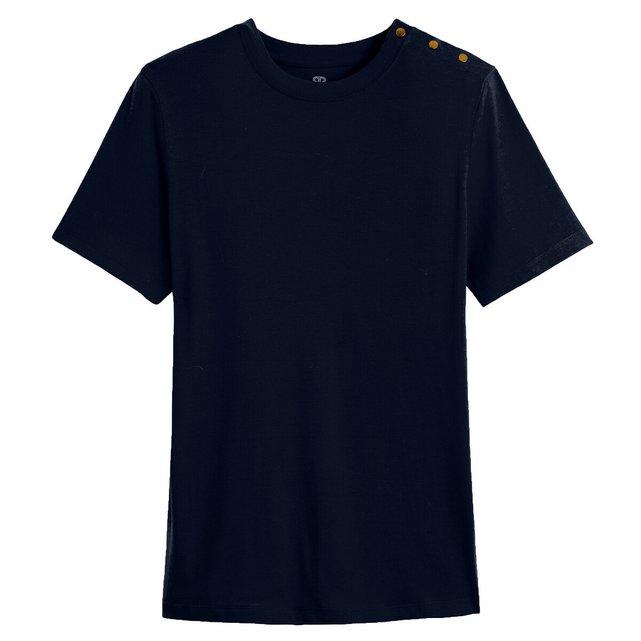 Κοντομάνικη μπλούζα με κούμπωμα στον ώμο