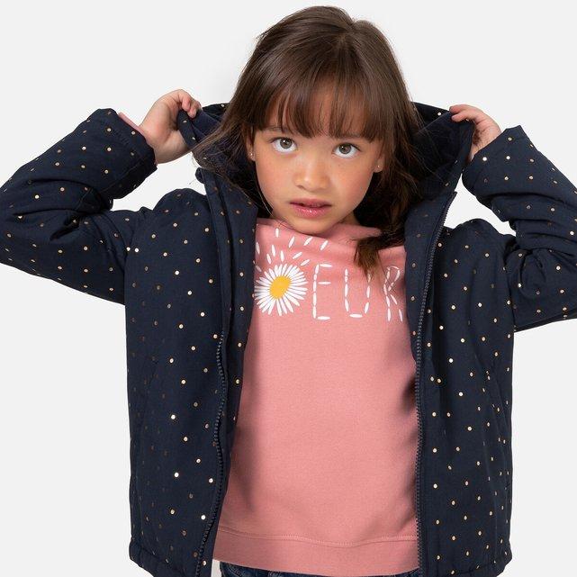 Αντιανεμικό μπουφάν με κουκούλα και πουά, 3-12 ετών