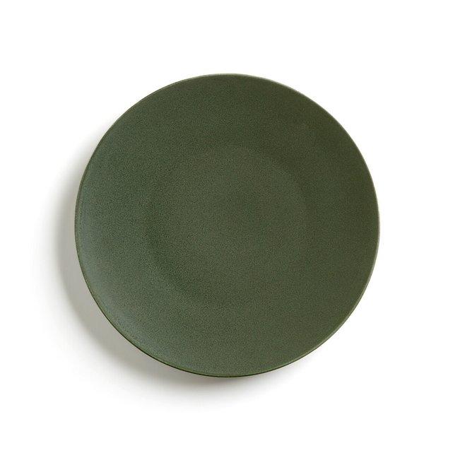 Σετ 4 κεραμικά ρηχά πιάτα με ματ όψη, Organic