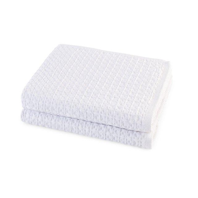 Σετ 2 πετσέτες από βιολογικό βαμβάκι, Wafflie