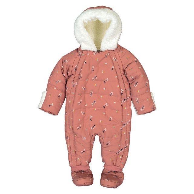 Ολόσωμο ζεστό μπουφάν με κουκούλα, 1 μηνός - 2 ετών