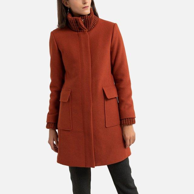 Μίντι παλτό με φερμουάρ
