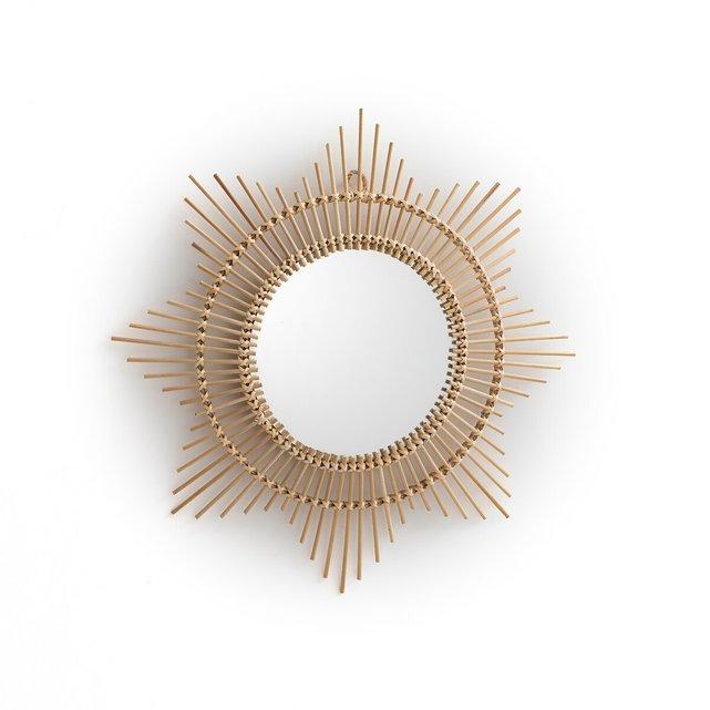 Καθρέφτης μπομπέ από μπαμπού σε σχήμα ήλιου Δ45 εκ., Nogu